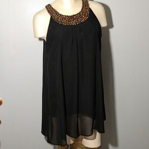 Jacqueline Smith long sheer and cotton top Size M